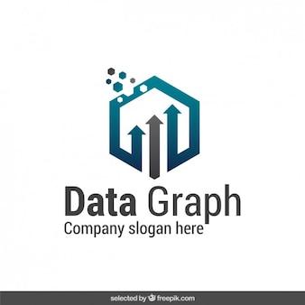 Dati astratti grafico del logo