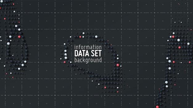 Абстрактный фон визуализации сортировки данных.