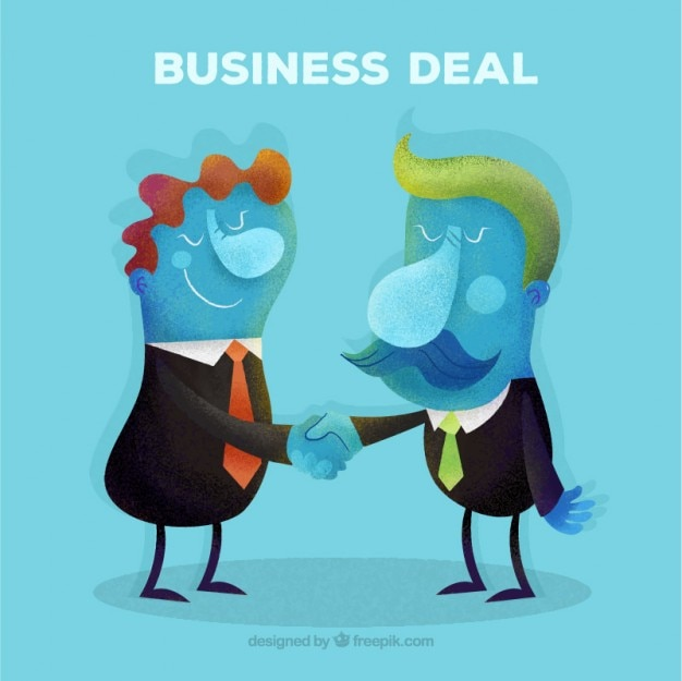 Abstract deal businessmen