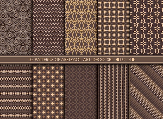 Abstract of deco pattern in set style.