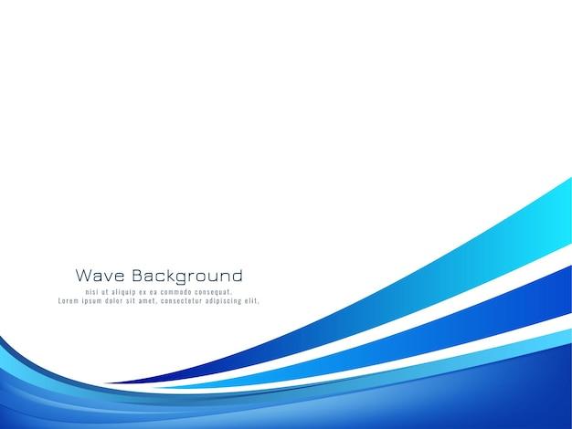 抽象的な装飾的な青い波の背景