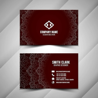 Abstract decorative business card template