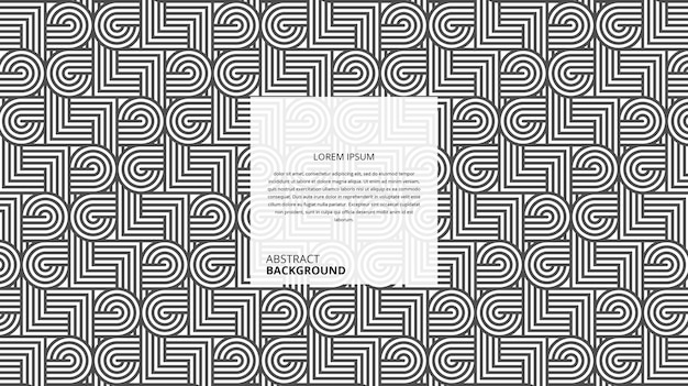 Abstract decorative circular square shape lines pattern