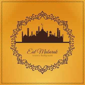 Abstract decorative Eid Mubarak background