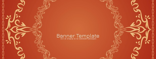 Abstract decorative ethnic banner template