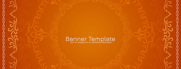 Abstract decorative ethnic design banner vector