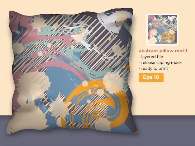 Abstract decorative fabric template