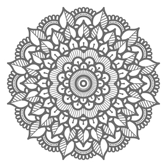 Abstract and decorative floral mandala illustration