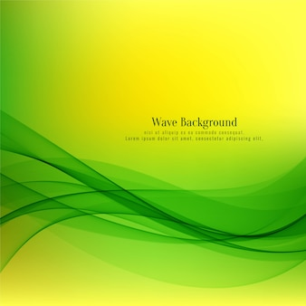 Abstract decorative green wave background