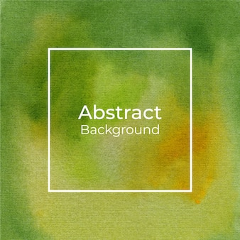 Abstract decorative green and yellow watercolor background