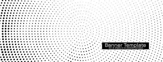 Абстрактный декоративный полутоновый баннер