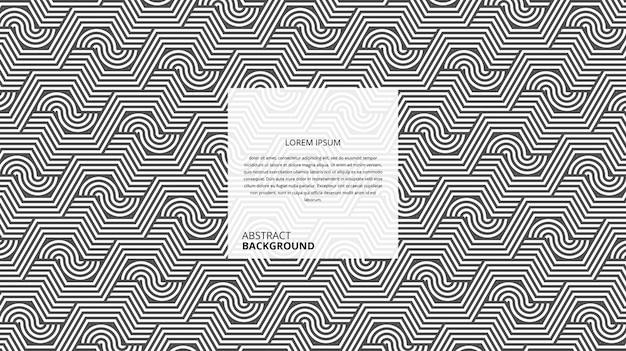 Абстрактный узор декоративных шестиугольных зигзагообразных линий