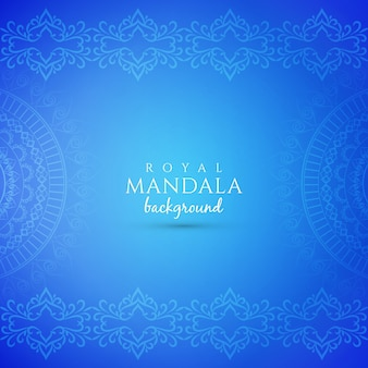 Abstract decorative luxury mandala blue background