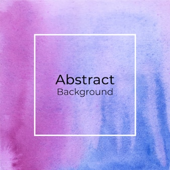 Abstract decorative pink and blue watercolor background