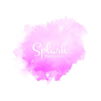 Abstract decorative pink watercolor splash design