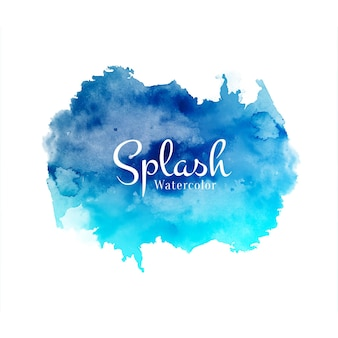 Abstract decorative watercolor splash design background