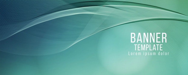 Abstract decorative wave banner design template