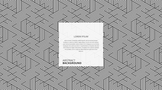 Abstract decorative zigzag triangle lines pattern