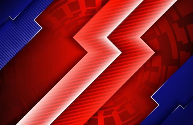 Абстрактный темно-красный и синий яркий градиент цвета фона мягкий яркий дизайн баннера