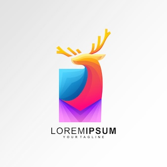 Abstract deer logo template