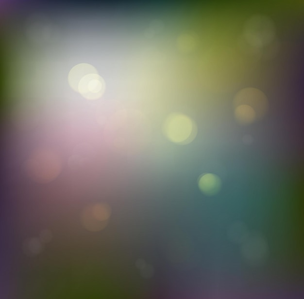 Abstract defocused background with twinkling lights and snowflakes