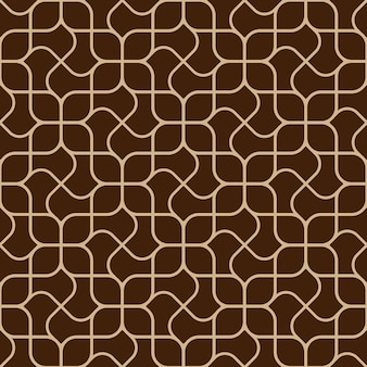 Abstract delicate geometric seamless pattern with curved lines