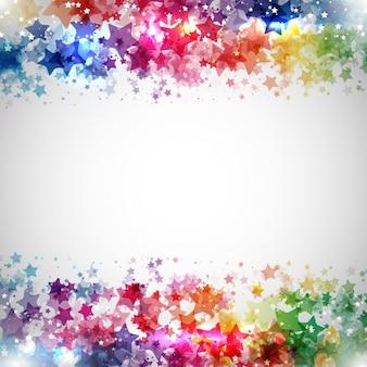 Абстрактный дизайн фона из красочных звезд