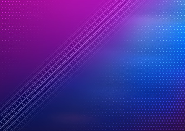 Abstract design background with blue and purple gradient