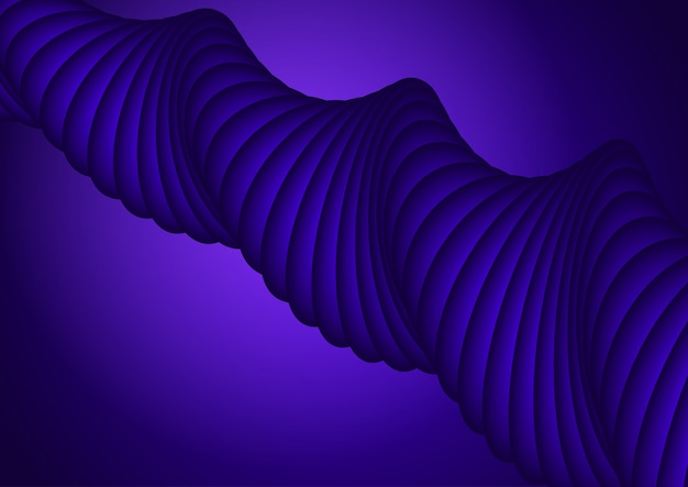 Abstract design background with purple 3d shape