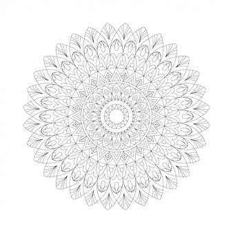 Abstract design black white element. round mandala in vector. graphic template for your design. circular pattern