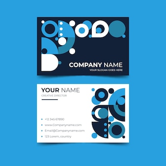 Abstract design blue business card template