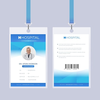 Abstract design blue id cards template
