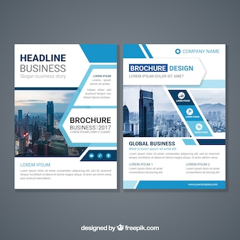Abstract design brochure template