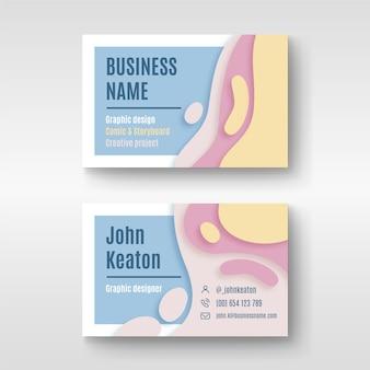 Визитная карточка абстрактного дизайна для графического дизайнера