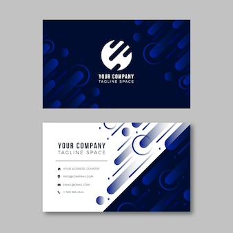 Abstract design of business card template