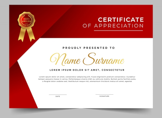 Abstract design certificate of achievement