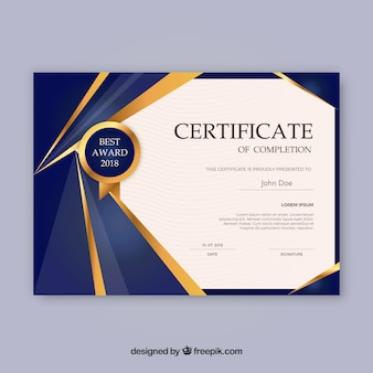 Abstract design certificate