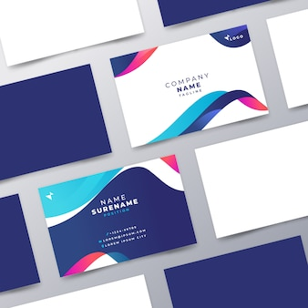 Abstract design colorful business card for company