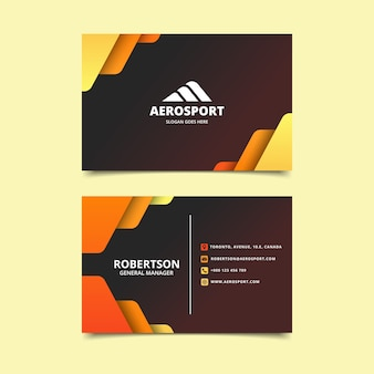 Abstract design colorful business card