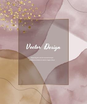 Абстрактная крышка дизайна с розовыми формами и линиями.