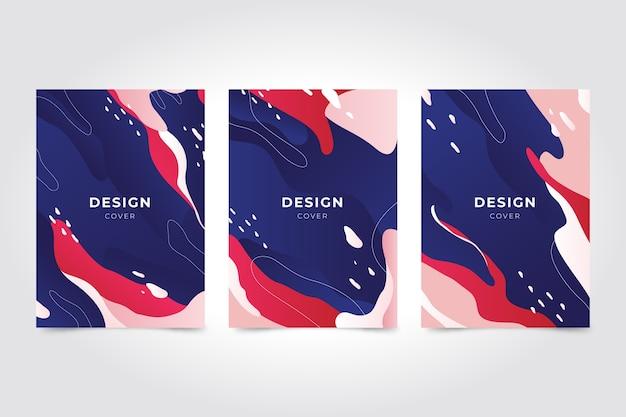 Абстрактный дизайн обложки коллекции