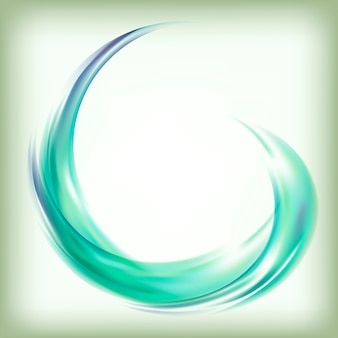 Abstract design element in green