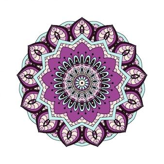 抽象的なデザイン要素。ベクトルの丸いマンダラ。あなたのデザインのグラフィックテンプレート。装飾的なレトロな飾り