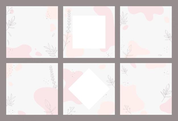 Абстрактный дизайн для поста в социальных сетях. каракули каракули форма рисованной