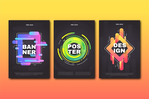 Abstract design geometric cover collection