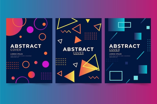 Abstract design geometric covers