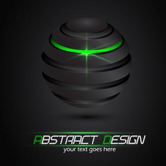 抽象的なデザイン、光沢のある球。