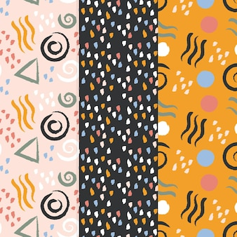 Abstract design hand drawn pattern collection