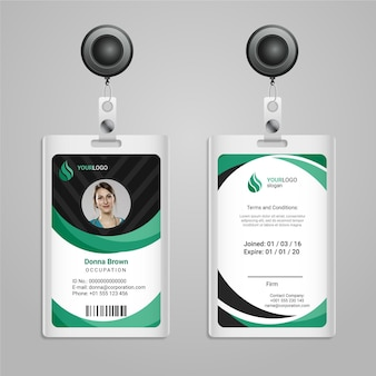 Abstract design id cards template