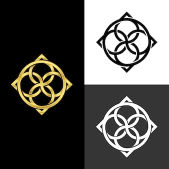 Abstract design for logo in two versions